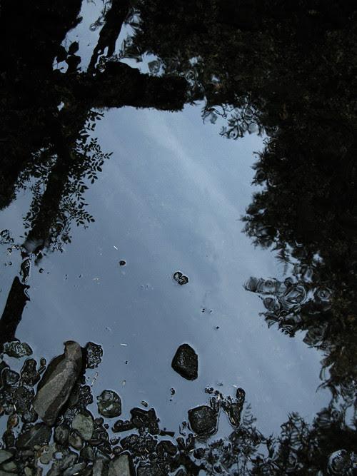 stones, shadows, Son-i-Hat Creek, Kasaan, Alaska