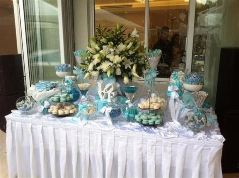 Tiffany's Candy Buffet   Tiffany Blue Bridal Shower Ideas