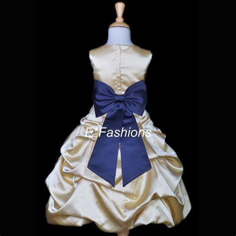 Details about YELLOW GOLD NAVY BLUE PAGEANT WEDDING FLOWER