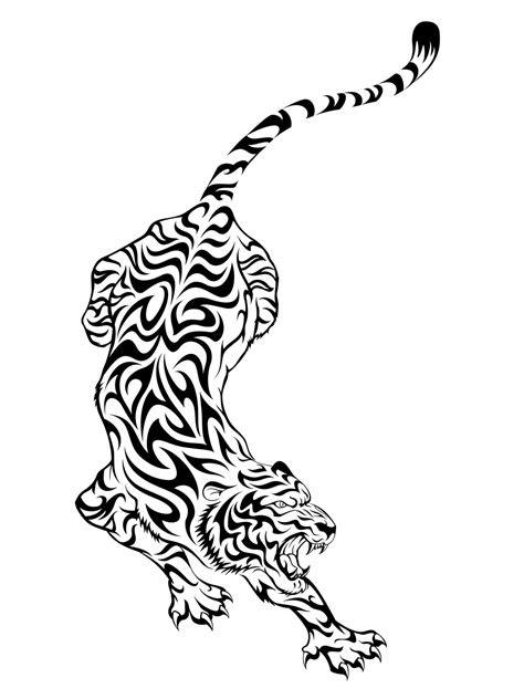 tribal tiger tattoo design tattoo ideas