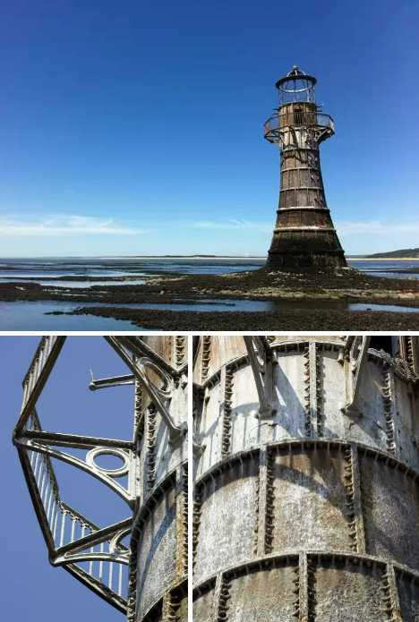 Whiteford Point Lighthouse Wales abandoned