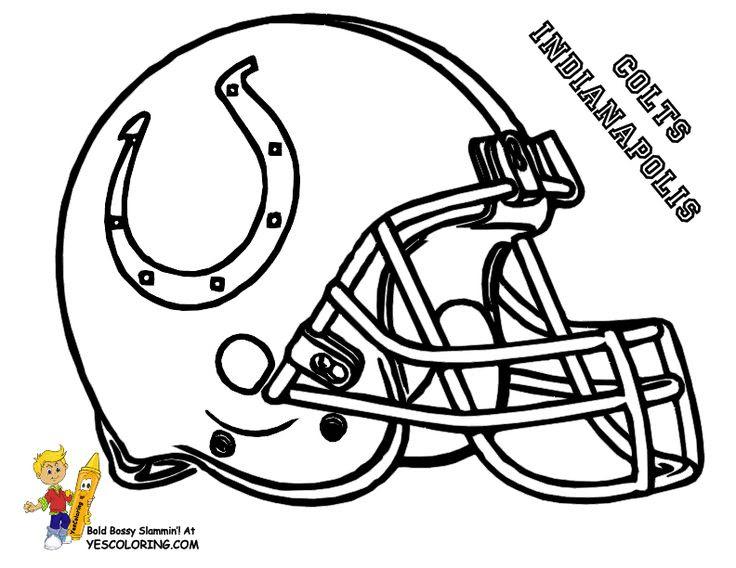 Helmet: Broncos Helmet Coloring Page