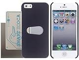おサイフ iPhone5/5S ケース 《Apple Forest オリジナル 電波干渉防止シート 付き》 ブラック(黒)