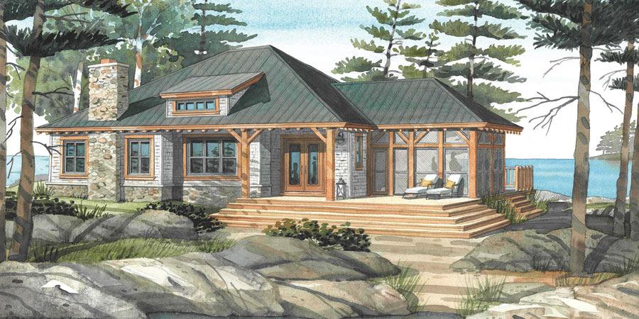 Cottage Plans & Custom Home Designs   Normerica Cottage & Custom