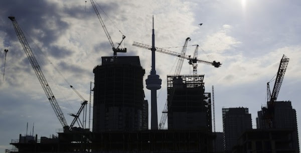 Condominiums are seen under construction in Toronto
