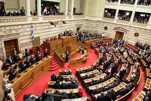 The swearing-in of the members of the Hellenic...