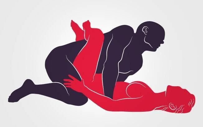 """25. TESOURA CRUZADA: Ela """"abraça"""" o tronco dele com as penas. O homem vem por cima e apoia as mãos na superfície . Foto: Renato Munhoz (Arte iG)"""