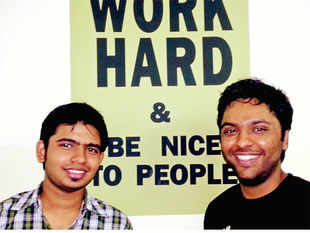 Ayush Varshney (left) and Sahil Baghla at their office in Delhi