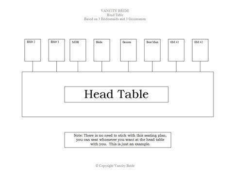 6 Free Wedding Seating Chart Templates