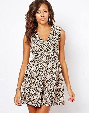 Image 1 of River Island Jacquard Skater Dress