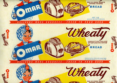 Omar Wheaty Bread Wrapper