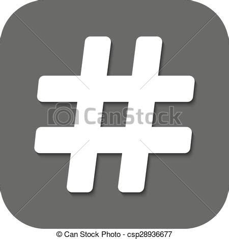 vectors illustration   hash icon hashtag symbol