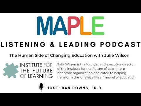 Talking Education Change Models With Julie Wilson:  An opportunity to dive deep on the next steps for organizational change in schools.