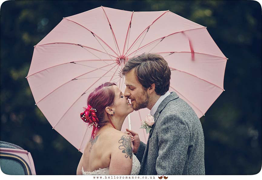Heart shaped weddiong umbrella - www.helloromance.co.uk