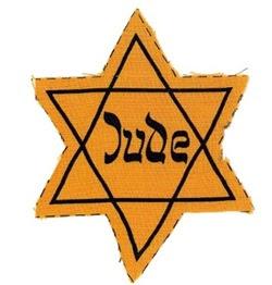 """Contrassegno della """"stella di David"""" da apporre in bella vista sulle vesti per permettere la rapida individuazione degli ebrei"""