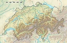 Lukmanier Pass befindet sich in der Schweiz