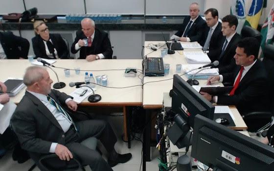 Ex-presidente Lula depõe ao juiz Sergio Moro (Foto: Reproduição)