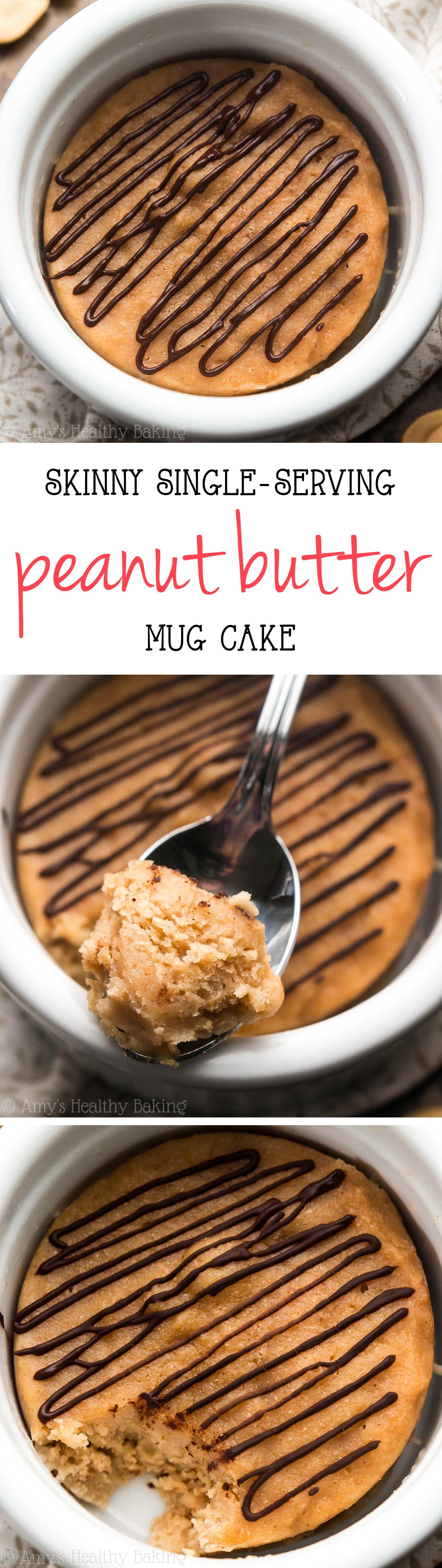 Skinny Peanut Butter Mug Cake   Amy's Healthy Baking