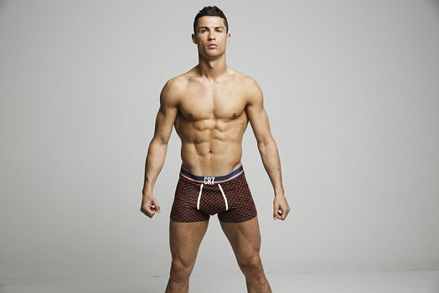 Honed:Cristiano Ronaldo recently unveiled his new underwear range by showcasing his incredible body in completely raw and unretouched campaign images