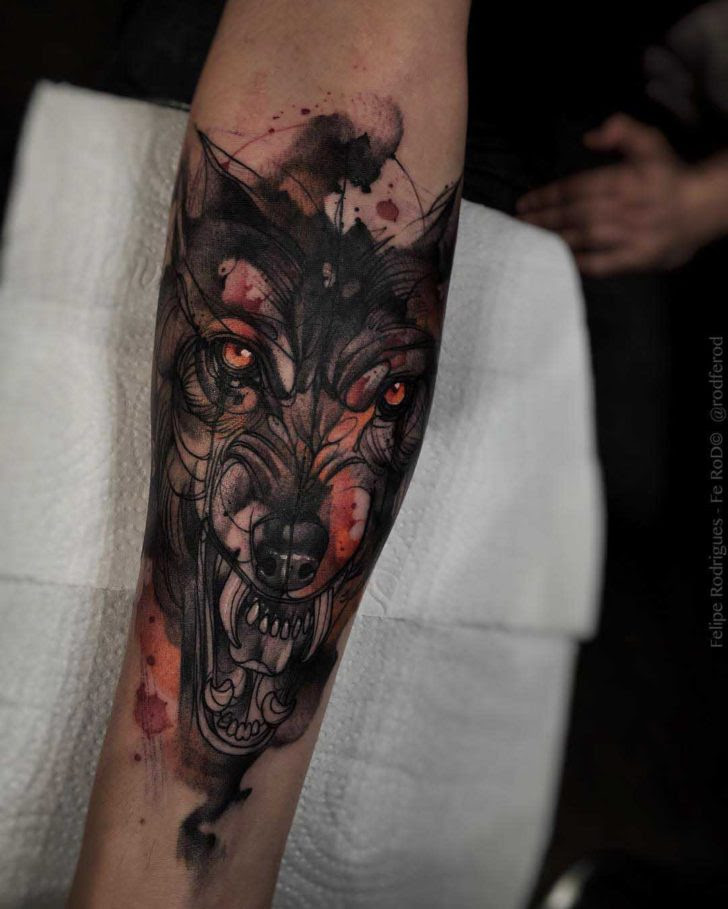 Very Evil Wolf Tattoo Best Tattoo Ideas Gallery