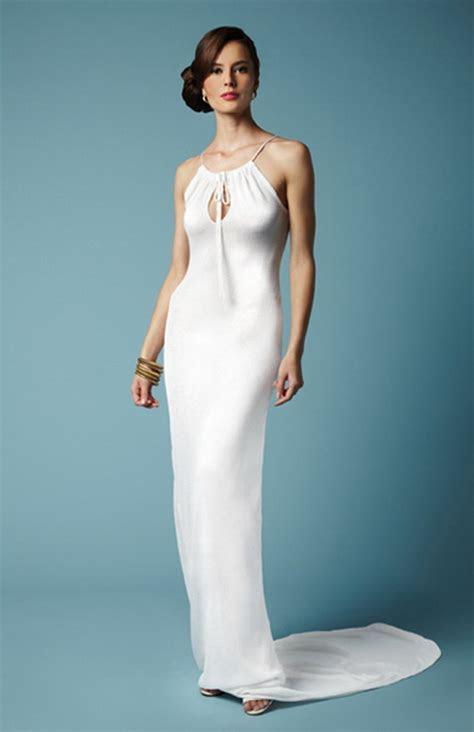 Linen beach wedding dresses