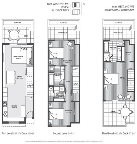 level vancouver luxury home floor plan town house