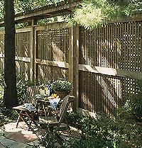 How to Make a Lattice Privacy Fence | eHow