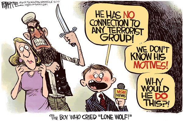 Image result for lone wolf terrorist cartoons