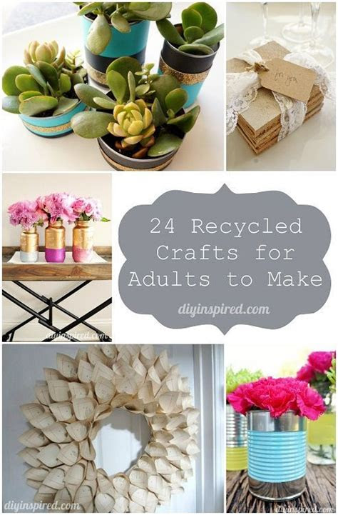 cheap recycled crafts  adults   craft