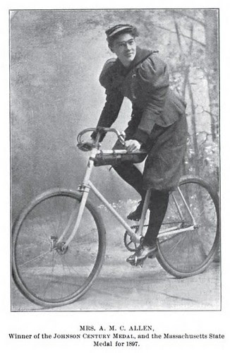 Champion woman cyclist, 1897 - Mrs. Allen