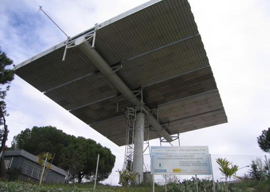 Instalación fotovoltaica de concentración.   IES-UPM.