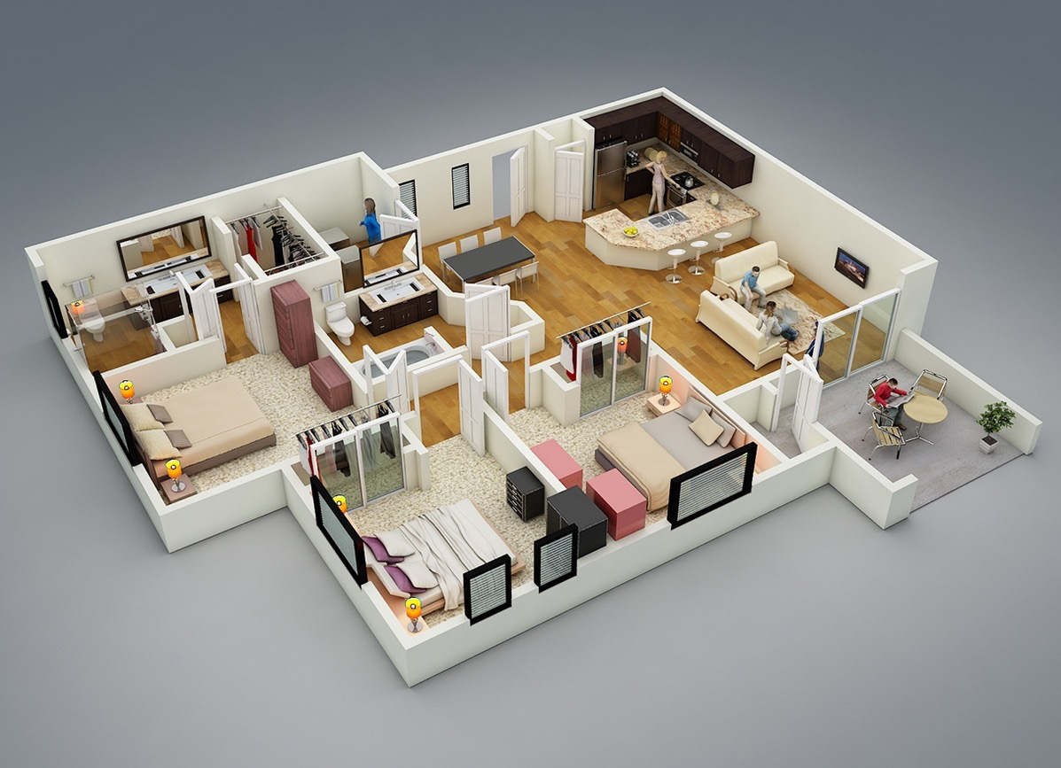 17-3-bedroom-layout