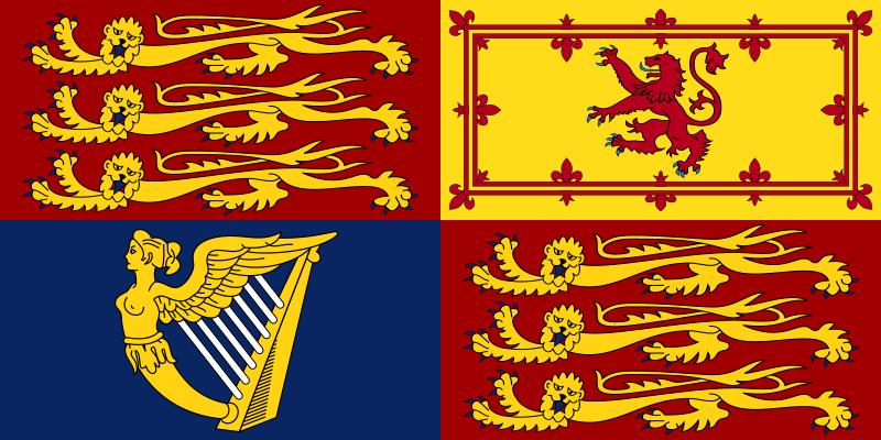 Archivo:Royal Standard of the United Kingdom.svg
