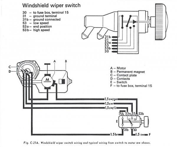 Get 27+] Windshield Wiper 5 Wire Wiper Motor Wiring Diagramمثال