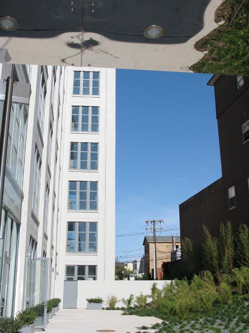 entrance reflections at CANCO Lofts, Jersey City, New Jersey