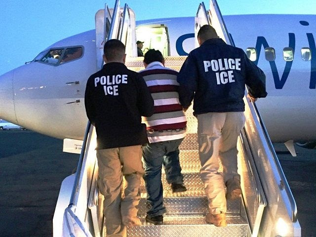 ICE ERO officers remove criminal alien.