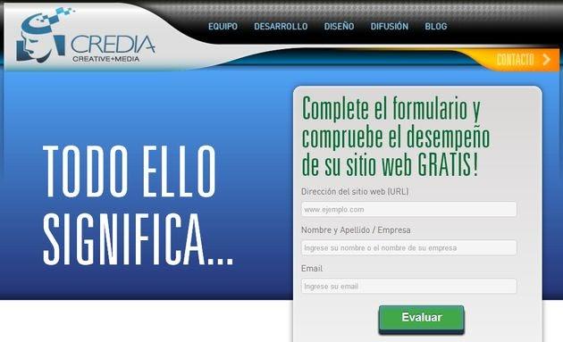 Credia Test, nuevo servicio para analizar el funcionamiento de tu web