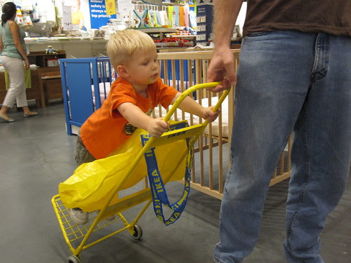Riding the Cart at Ikea