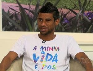 Léo Moura, lateral-direito do Flamengo (Foto: Reprodução/TV Anhanguera)