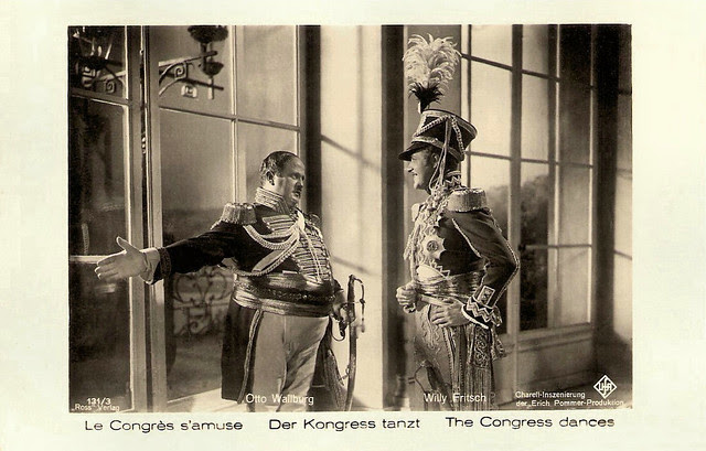 Otto Wallburg and Willy Fritsch in Der Kongress tanzt