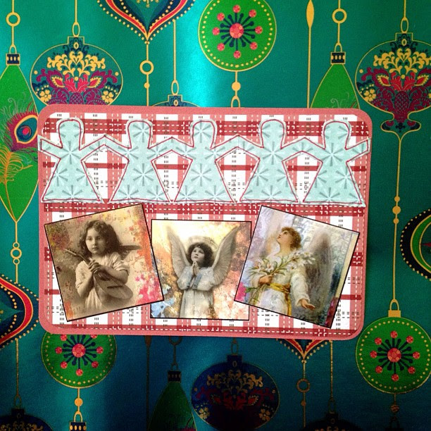 #angels #christmas #postcard #snailmail