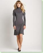 Pure Simple Long-Sleeved Jersey Mockneck Dress