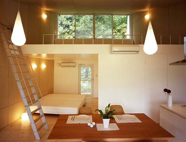 Building Contractor: Japanese Homes Small Home Design Ideas  metal clad house with wood interior