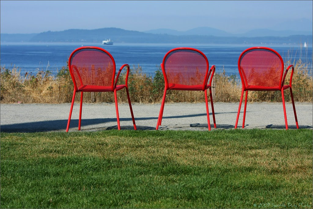 Plato's Chairs Take in the View