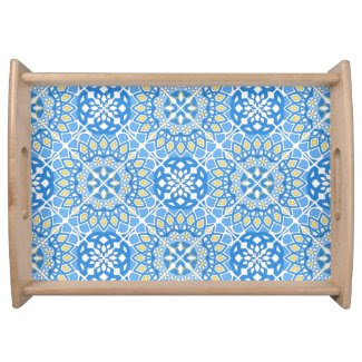 Portuguese tile patterns serving tray
