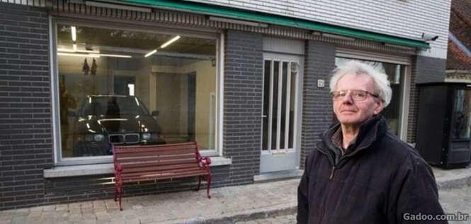 Este homem foi impedido de fazer uma garagem para seu carro, mas teve uma incrível solução