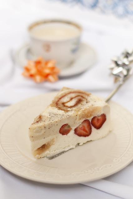 Strawberry Charlotte with Bavarian cream
