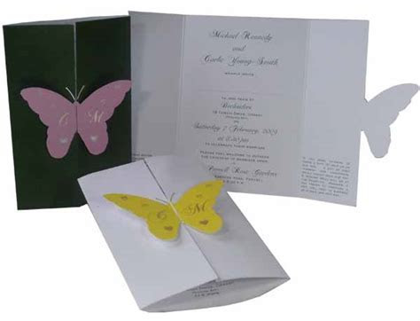 Butterfly Wedding Invitation   Hayfords Wedding Stationery