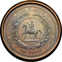 Confederate States of America, (c. 1872) The Great Seal of the Confederate States of America,Copper Electrotype Shell, With Case....