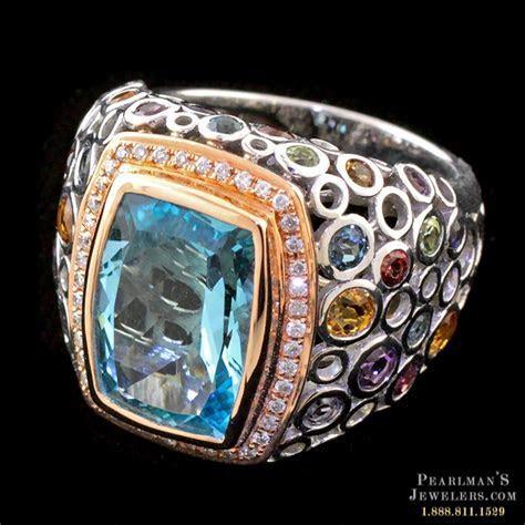 Bellarri Blue Topaz Multi Gemstone Ring